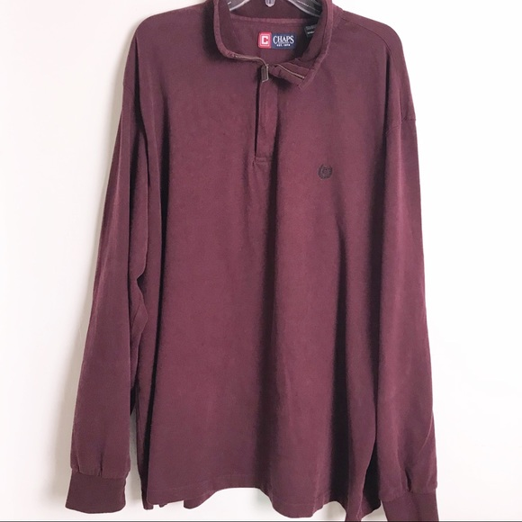 Chaps Other - CHAPS 1/4 Zip Burgundy Pullover Men's 3XB